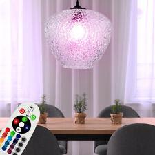 RGB LED Lámpara Colgante Regulable Cristal Estructura de Techo Péndulo Mando