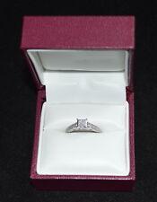 Helzberg Diamonds 14K WG Engagement Ring Sz 6 1/3 ct TW Diamond cluster