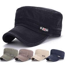 Mens Military Baseball Cap Cadet Style Classic Sport Outdoor Cotton Plain Hat