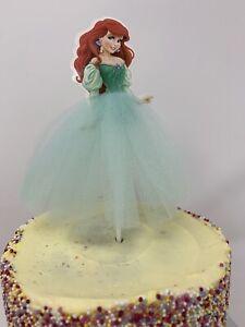 Ariel Mermaid Princess Cake Topper Girls Kids Birthday Party decoration baking