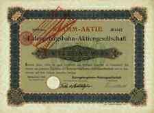 Eulengebirgsbahn AG 1903 Reichenbach Schlesien Silberberg Neurode AGIV 1000 Mark