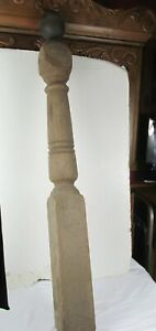Vintage - Antique Wooden Newel Stairway Post Architectural Salvage