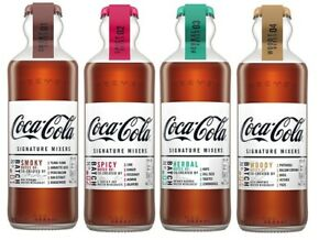 New Coca-Cola Signature Mixers Smoky Spicy Woody Herbal Glass Bottles 200ml