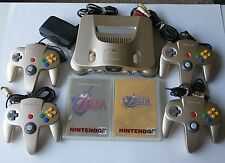 ++ADULT OWNED++ USA Nintendo 64 Gold Console System Complete w/ 2 Zelda Games