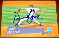 David Cone New York Yankees Toronto Mets MLB auto autograph signed baseball card