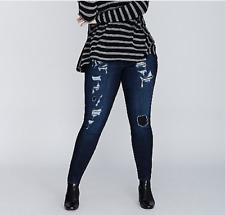 LANE BRYANT sz 22 Trendy Destructed Distressed Skinny Jeans 22W