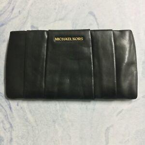 Michael Kors Black Soft Leather Clutch
