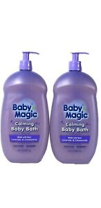 2- Baby Magic Calming Baby Bath Made With Real Lavender & Chamomile 30 oz ea
