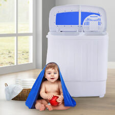 Portable Mini Washing Machine Compact Twin Tub Washer Spin Spinner