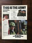 1980 vintage original print ad This Is The Army - Join The People Who've Joined