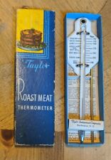 Vintage Taylor Roast Meat Thermometer #5936 In Box Rochester NY USA
