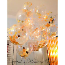 3PCS Confetti Balloons Clear Gold DIY Decoration  Engagement Party Events
