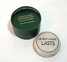 Baekgaard Paperweight, He Who Laughs, NIB