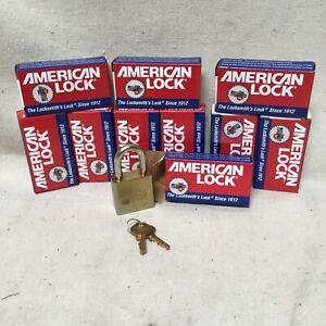 (10) AMERICAN LOCK A5200GLNKAS10 Keyed Alike Padlocks Steel Shackle Standard