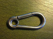 Mousqueton à oeil INOX Ø 8 X 80 mm
