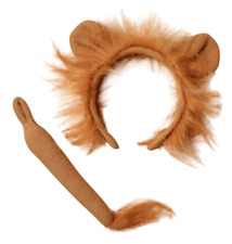 LION Ears and Tail Set Headband Fancy Dress Costume Accessory ONE SIZE FITS ALL