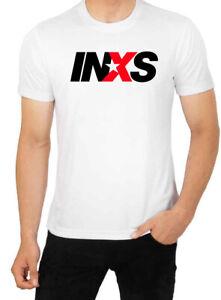 INXS Short sleeve White Men T shirt K101