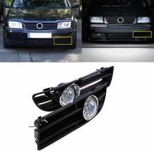 For VW Bora Jetta MK4 1999-2007 Pair White LED Bumper Grille Fog Lights Lamp