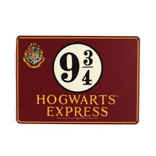 Genuine Harry Potter 9 3/4 Hogwarts Express A5 Steel Sign Tin Wall Door Plaque