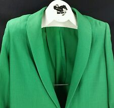 Reed Hill Ladies Saddleseat Day Coat EMERALD GREEN Linen  Blend 18 - USA