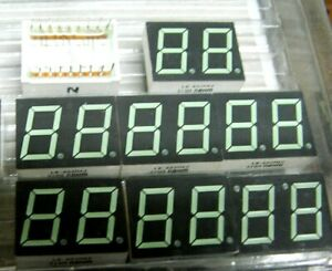 Black Face Four Digit 7 Segment Red LED Display Pack of 5 Common Anode 0.56 14.2mm