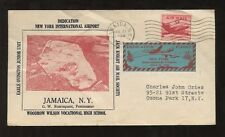 FLIGHT 1948 AIRPORT DEDICATION SPECIAL LABEL COVER JAMAICA NEW YORK