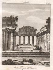 1841 Paestum (Salerno) tempio di Cerere bulino