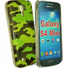 Case For Samsung Galaxy S4 Mini i9195 Camouflage Military green + Film