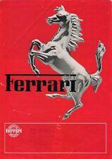 Ferrari 1981-82 UK Market Foldout Brochure 308 GTBi GTSi Mondial 8 400i BB 512i
