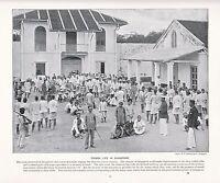 1897 Vittoriano Stampa ~ Cortile Di Singapore Prigione ~ Forti ( Testo