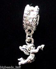 Una aleación Angel Rhinestone cuelgan grano de metal Fit europeo encanto de estilo Cadenas
