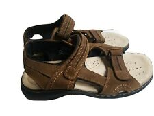 DOCKERS SANDALS MEN'S SIZE 10 M BROWN LEATHER  OUTDOOR SHOE GREAT CONDITION