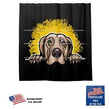 Weimaraner Dog Splash On Black Bathroom Fabric USA Shower Curtain