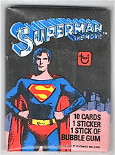 """1978-""""SUPERMAN...THE MOVIE""""--UNOPENED PACK TOPPS CARDS--NMT"""