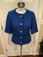 Brooks Brothers Red Fleece Blue Tweed Short Sleeve Jacket, Size 6 (US), NWT!