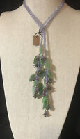 "Heidi Daus ""Floral Bells"" Beaded Crystal Lariat Necklace NWT BEAUTIFUL"