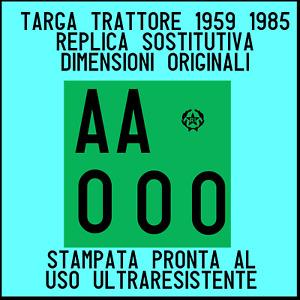 TARGA TRATTORE come ìoriginale in alluminio16,5x16,5