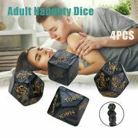 4pcs Paare Adult Love Dice Sex Position Würfelspiel Paar Vorspiel Spielzeug Neu