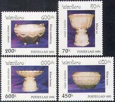 Laos 1995 Antique Vessels/Silver/Bowls/Chalice/Art/Carving/Craft 4v set (n42568)