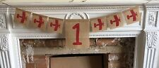 Burlap Hessian Airplane 1st Birthday Banner Garland Bunting