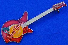 TIJUANA MEXICO VINTAGE ERA EKO 700 4V ENAMEL FLAG RED GUITAR Hard Rock Cafe PIN