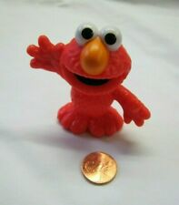 """SESAME STREET PLASTIC ELMO Arms Outstretched 2.5"""" CAKE TOPPER FIGURE TOY PVC"""