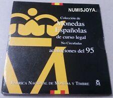 España año 1995. Coleccion OFICIAL de Monedas de PESETAS Curso Legal de la FNMT.