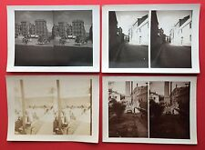 4 alte Stereo Foto 1912 REUS Spanien Katalonien mit Fabrik  RAR ( F14783