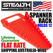 STEALTH Spanner Rack Gripper 12 Tools Storage Organiser Red Quality Made in USA