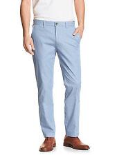5098 Banana Republic Mens Blue Striped Slim Fit Aiden Chino Pants 30W x 30L $59