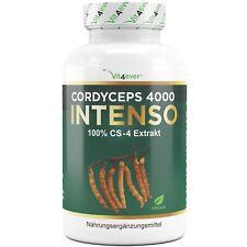 Cordyceps Sinensis 4000 180 Kapseln 500 mg 100% CS-4 Extrakt 40% Polysaccharide