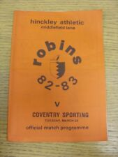 22/03/1983 Hinkley Athletic v Coventry Sporting  (Light Crease). Thanks for view