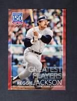 2019 Topps Series 1 150 Years of Pro Baseball Red #150-59 Reggie Jackson /10