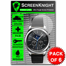 ScreenKnight Samsung Galaxy Gear S3 Classic SCREEN PROTECTOR - PACK OF 6